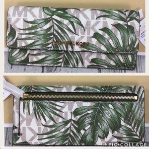 Michael Kors Jet Set Tropical Print Wallet
